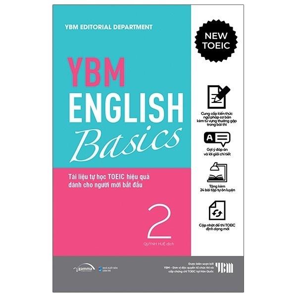 nguyetlinhbook - YBM English Basic 2: Tài Liệu Tự Học TOEIC Hiệ Quả Dành Cho Người Mới Bắt Đầu