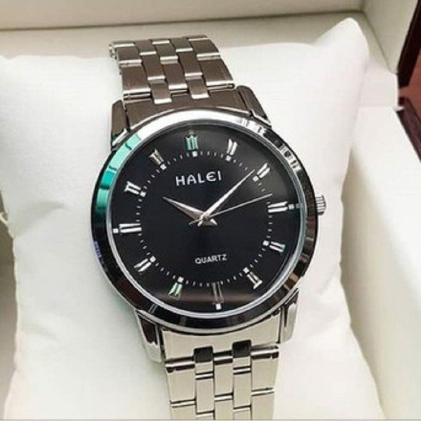 Nơi bán [FREESHIP Toàn Quốc] Đồng hồ nam nữ Halei 502 mạ màu bạc cao cấp không gỉ, chống nước, chống xước