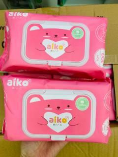 Khăn ướt cho bé AIKO 100 tơ không hương thumbnail