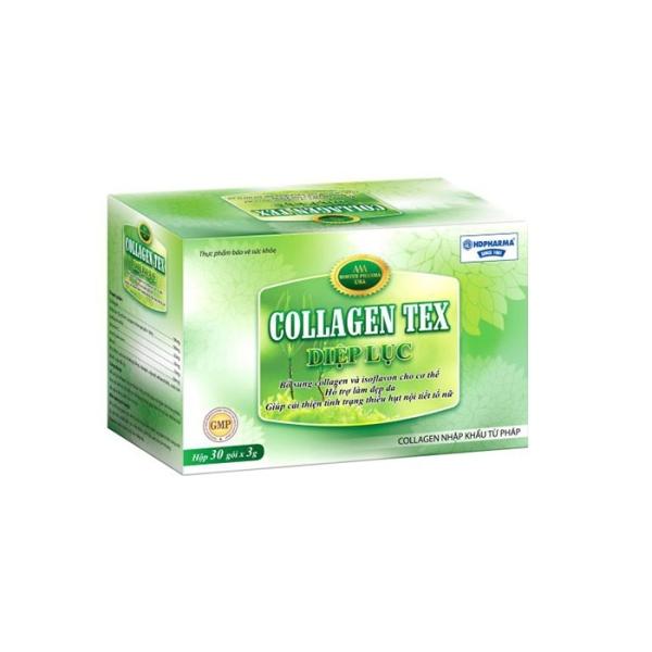 Diệp lục Collagen Tex hỗ trợ đẹp da chống lão hoá cho phụ nữ hộp 30 gói
