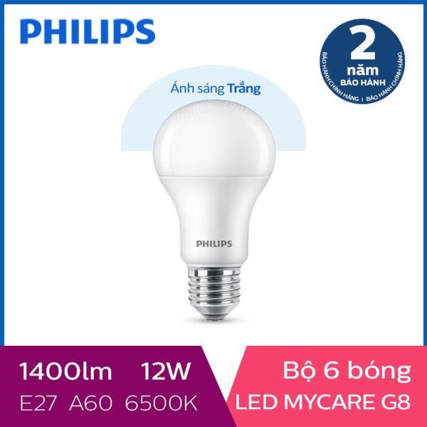 Bộ 6 Bóng đèn Philips LED MyCare 12W 6500K E27 A60 (Ánh sáng trắng)