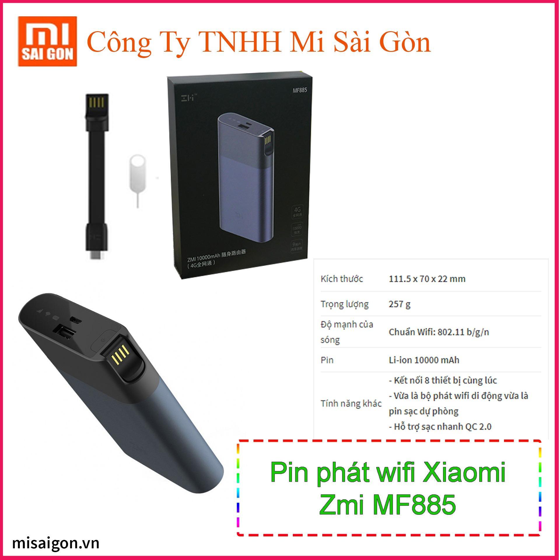 pin phát wifi di động từ sim 3G/4G kiêm sạc dự phòng zmi mf885