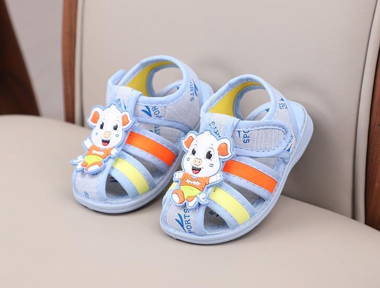 giày vải bé trai- bé gái size 15-20 đế cao su có kèn