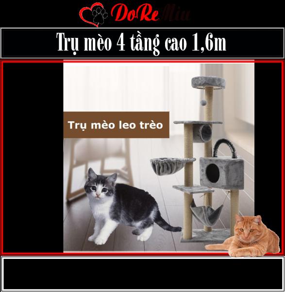 Doremiu- Trụ mèo leo trèo Nhà cây cho mèo lớn cao 1,6m cat tree dụng cụ cào móng