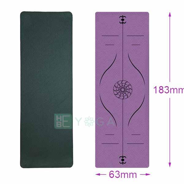 Thảm Tập Yoga Định Tuyến TPE 8mm 1 Lớp Cao Cấp Kèm Túi Giá Sốc Nên Mua