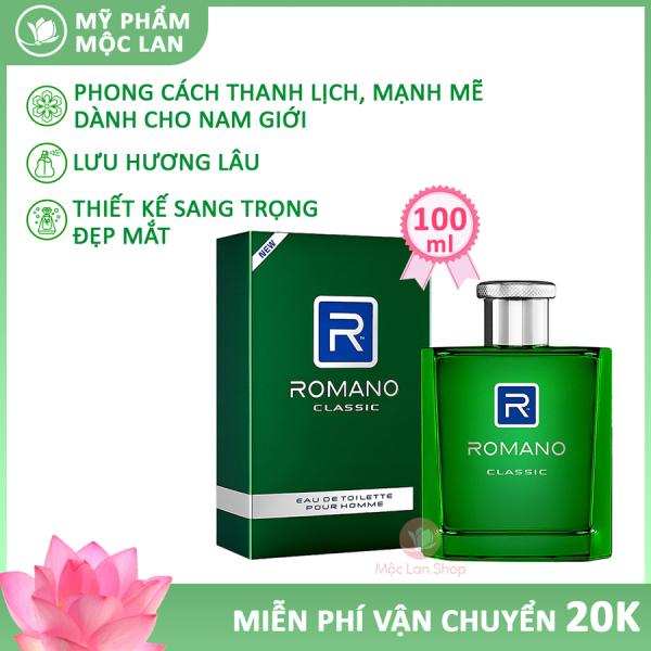 Nước hoa nam, nước hoa Romano mạnh mẽ và đầy nam tính (100ml) - Mỹ phẩm Mộc Lan