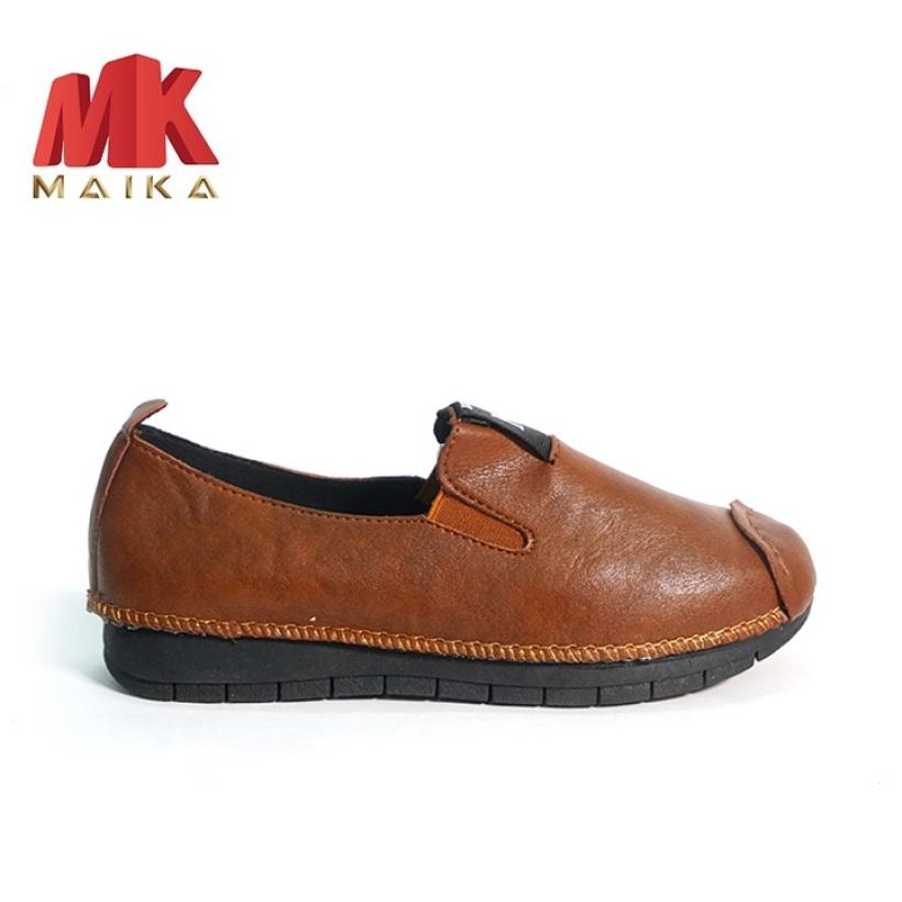 Giày lười neon nữ S1067 (Nâu) êm chân, thoải mái đi bộ - mkstore giá rẻ