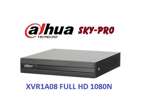 Đầu ghi hình HDCVI/TVI/AHD và IP 8 kênh DAHUA XVR1A08, Đầu ghi FULL HD 1080P 8 kênh, Bảo hành 2 năm, Bán tại SKYPRO