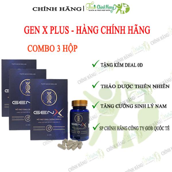 GEN X PLUS COMBO 3 HỘP - Viên Uống Tăng Cường Sinh Lý Nam HỘP 24 VIÊN
