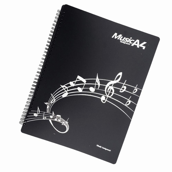 Music Score Folder Band Folder Musician Folder Writing Spiral Mounted American Letter A4 Size 20 Sleeve 40 Pages