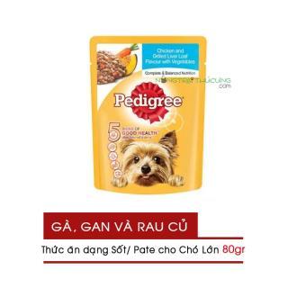 Gói Pate Sốt cho Chó Lớn Pedigree 80gr - Vị Gà, Gan và Rau - [Nông Trại Thú Cưng] thumbnail