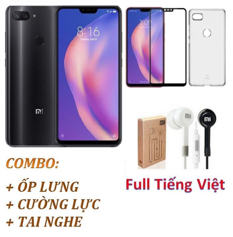 Điện thoại Xiaomi Mi 8 Lite 64GB Ram 4GB (Xám) Full Tiếng Việt - ShopOnline24 + Ốp lưng + Cường lực + Tai nghe - Hàng Chính hãng