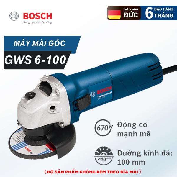 Máy mài góc BOSSH 6-100 - Công suất 670W - Trục M10 - Cắt, cưa, mài chuyên dụng - Hàng nhập khẩu Đức