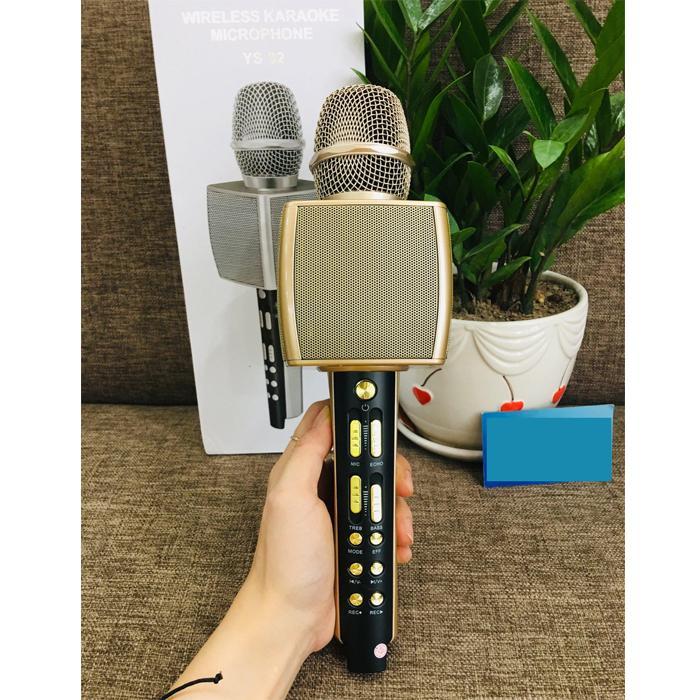 [CHẤT 2019] Micro Karaoke Chuyên Nghiệp YS 92, Mic Hát Karaoke Bluetooth Không Dây YS92  Lọc Tiếng ồn Cực Hay- Kèm Loa- Âm vang - Ấm - Mic Hát Karaoke Cầm Tay Mini - Mic Hát Karaoke Hay Nhat Hiện Nay