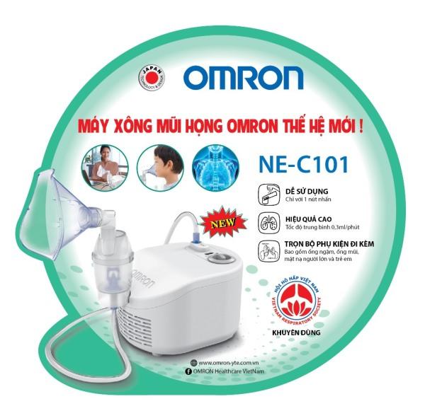 [HCM] Máy xông mũi họng Omron NE-C101 hỗ trợ điều trị các bệnh về đường hô hấp như viêm xoang, hen suyễn, tắc nghẽn phổi...