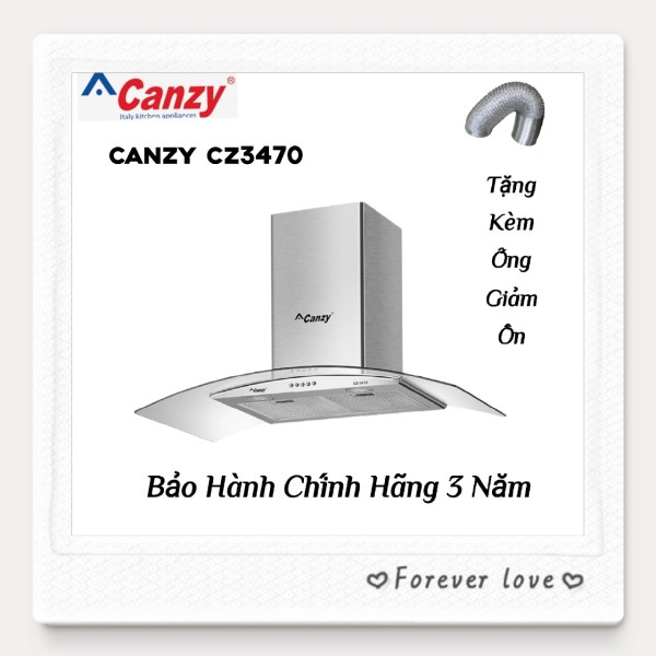 Máy Hút Khử Mùi Kính Cong Cao Cấp CANZY CZ3470