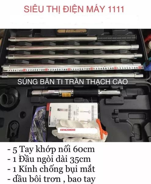 Máy bắn ti ren trần chuyên dụng thi công điện nước,thạch cao,cứu hỏa,thông số,điều hòa-Chất liệu Inox 304 cao cấp