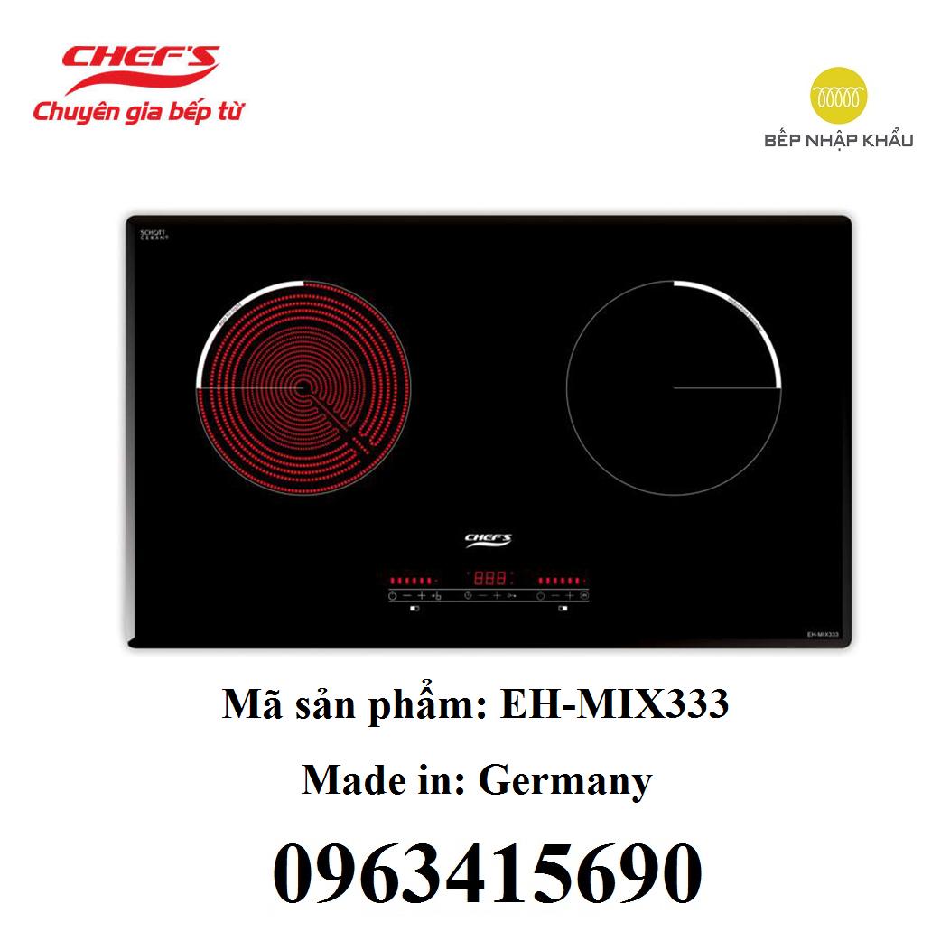 Bếp âm từ - hồng ngoại Chefs EH-MIX333 (75cm - 3600W) - hàng chính hãng,  thiết kế đẹp mắt, tinh tế, nhiều tính năng thông minh, giúp nâng cao hiệu  quả nấu