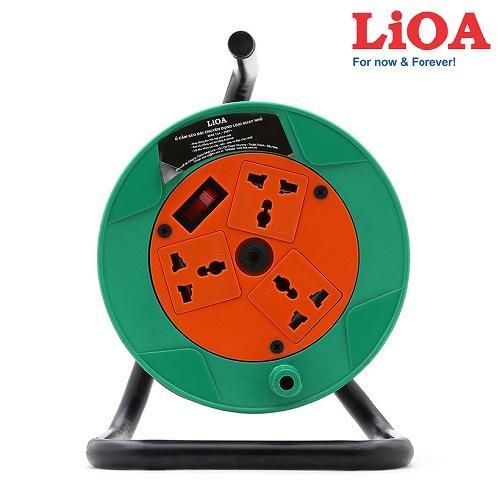 Ổ cắm Rulo LIOA QN20-2-15A ( 20m dây ) đa năng  quay tay ( Bảo vệ quá tải bằng CB )