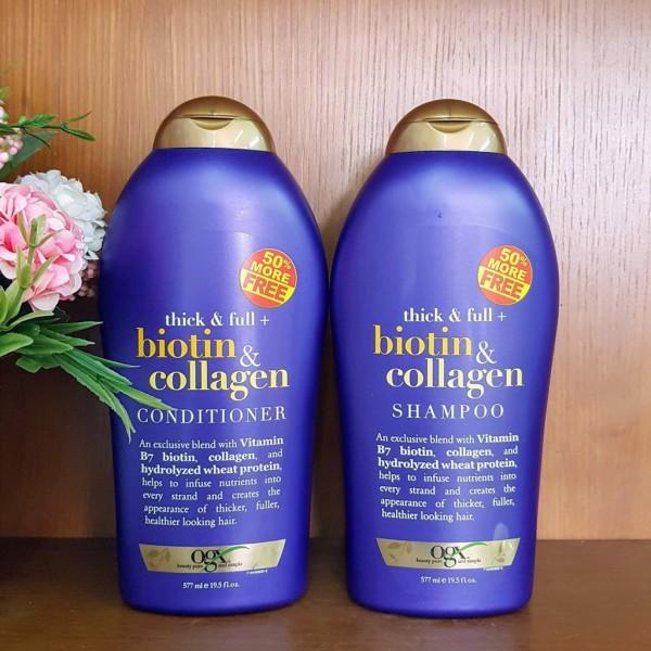Bộ Dầu Gội Xả Biotin Collagen [Hàng Chính Hãng] Chống Rụng Tóc Và Kích Thích Mọc Tóc Nhanh, Hương Thơm Dịu, 577ml nhập khẩu