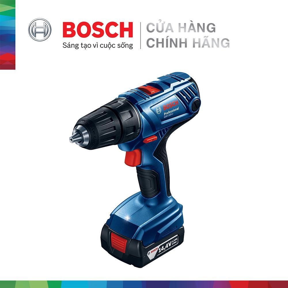 Máy khoan vặn vít dùng pin Bosch GSR 140-LI + phụ kiện MỚI