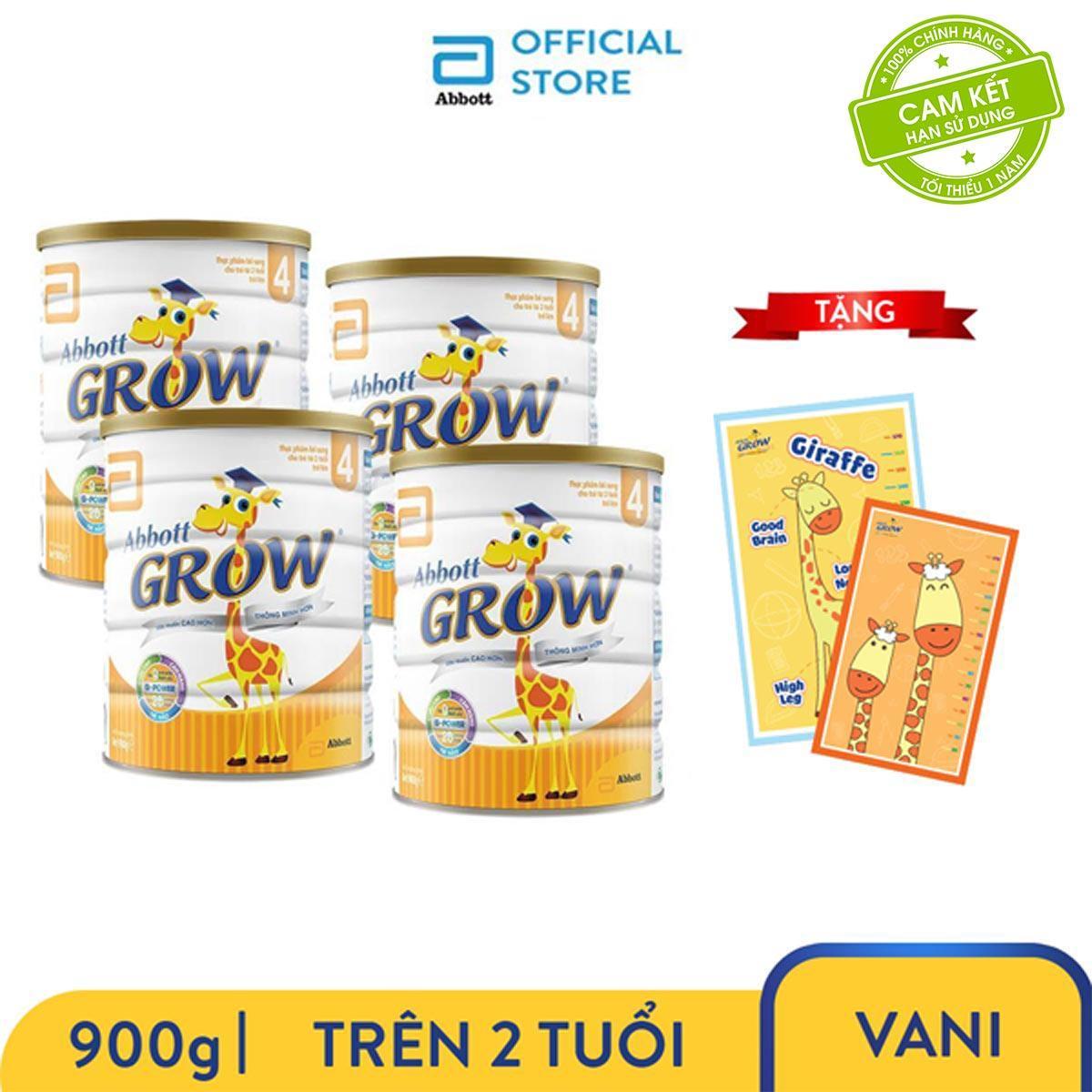 Bộ 4 Lon Sữa Bột Grow 4 900g Tặng Thảm Nằm Chơi Cho Bé Kích Thước (1.2x1.5)m Trị Giá 150.000đ Giá Rẻ Bất Ngờ