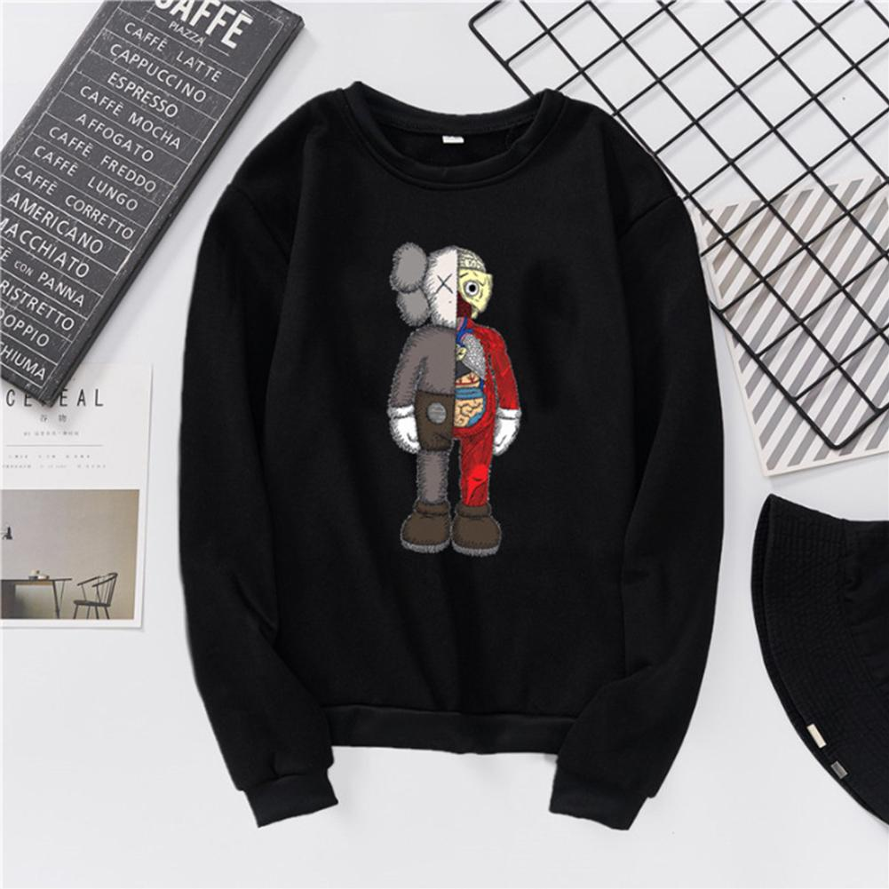 top brands elegant shoes purchase cheap KAWS Unisex Sweatshirt Cartoon Combined Doll Thicken Couple Loose ...
