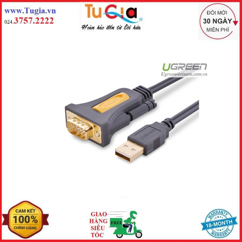 Bảng giá Cáp USB to Com RS232 DB9 Ugreen 20210 dài 1m - Hàng chính hãng Phong Vũ