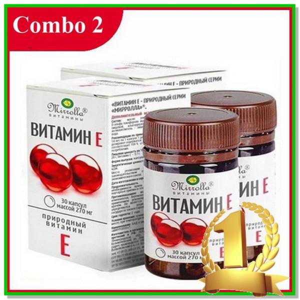 Vitamin E đỏ [COMBO 2 HỘP] hộp 30 viên Vitamin mờ nám sáng da dưỡng da tốt cao cấp