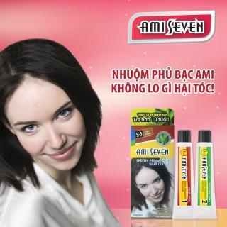 Nhuộm phủ bạc dược thảo Ami Seven Speedy Permanent Hair Color (60g 60g) nhanh 7 phút màu S3 - Hàn Quốc thumbnail