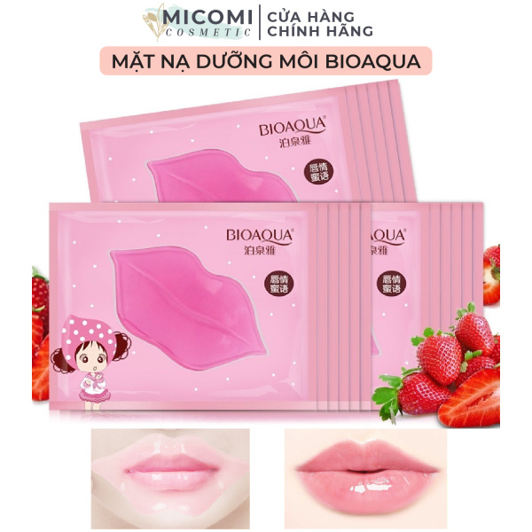 [HCM]Mặt Nạ Môi Collagen Dưỡng Ẩm Da Môi Giảm Thâm Mềm Môi Mask Môi Bioaqua Nội Địa Trung MICOMI Cosmetics