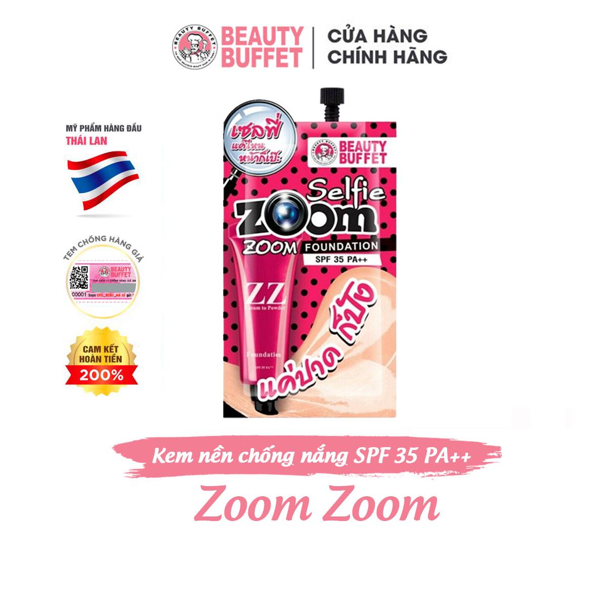 Kem nền Beauty Buffet Zoom Zoom SPF 35 PA++ gói 7g