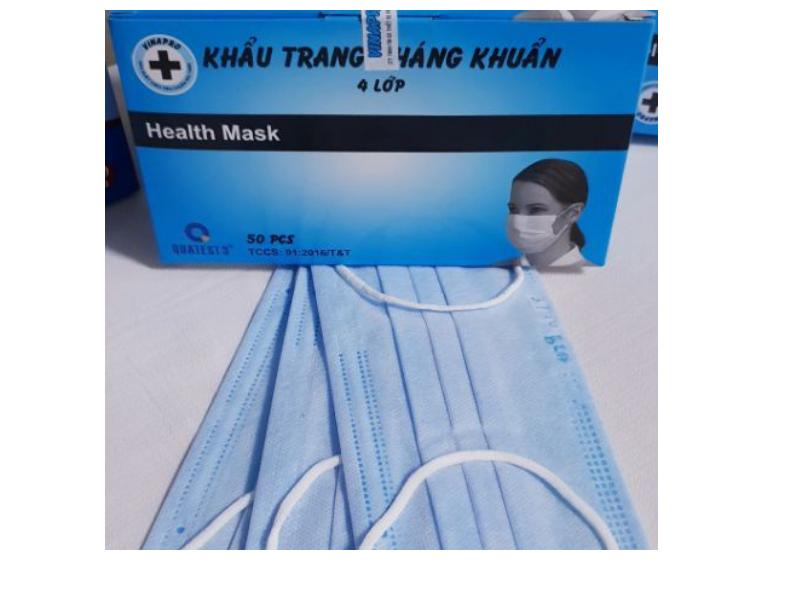 khẩu trang vải kháng khuẩn y tế 4 lớp Vinapro hộp 50 chiếc cao cấp