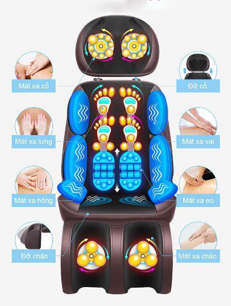 ghế đệm massage toàn thân xung điện trị liệu - ghế đệm massage toàn thân có đấm bóp chân