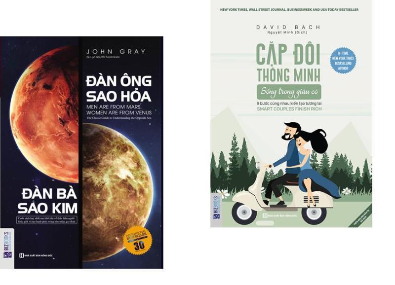 SH-Combo SÁCH CHO GIA ĐÌNH HẠNH PHÚC: Đàn ông sao hỏa, đàn bà sao kim + Cặp đôi thông minh sống trong giàu có (Tặng kèm bookmark)