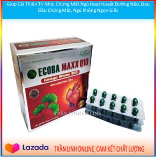 Ecoba Maxx Q10 ginkgo biloba 360 Giúp Cải Thiện Trí Nhớ, Chứng Mất Ngủ Hoạt Huyết Dưỡng Não, Đau Đầu Chóng Mặt, Ngủ Không Ngon Giấc (đỏ) thumbnail