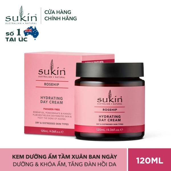 Kem Dưỡng Ẩm Da Ban Ngày Sukin Rosehip Hydrating Day Cream 120ml nhập khẩu