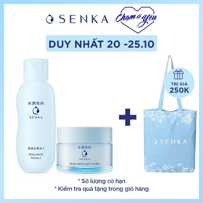[ MUA 1 TẶNG 1 ] Bộ sản phẩm Senka dưỡng ẩm và ngăn ngừa lão hóa da vào buổi tối (Senka Deep Moist Lotion I và Senka Deep Moist Gel Cream)