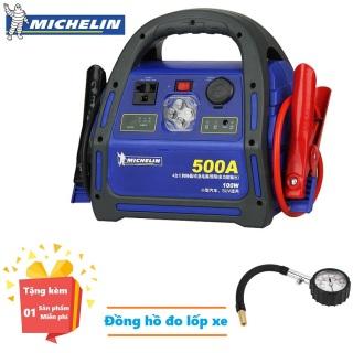 ( Quà tặng Đồng hồ đo áp suất lốp xe ô tô ) Bộ Kích nổ ô tô chuyên dụng Michelin 8564ML 500A - Bộ Kích nổ ô tô chuyên dụng Michelin 8564ML 500Amp Phát Điện 220V 100W - Bộ Kích Bình Ắc Quy - Bảo hành 12 tháng thumbnail