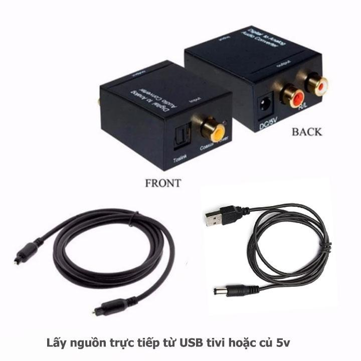 [HCM]Bộ Chuyển Đổi Tín Hiệu Âm Thanh Tivi 4K Optical Sang Loa Âmply Hỗ trợ âm thanh stereo 24bit + Tặng Kèm Dây Quang