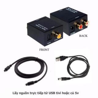Bộ Chuyển Đổi Tín Hiệu Âm Thanh Tivi 4K Optical Sang Loa Âmply Hỗ trợ âm thanh stereo 24bit + Tặng Kèm Dây Quang thumbnail