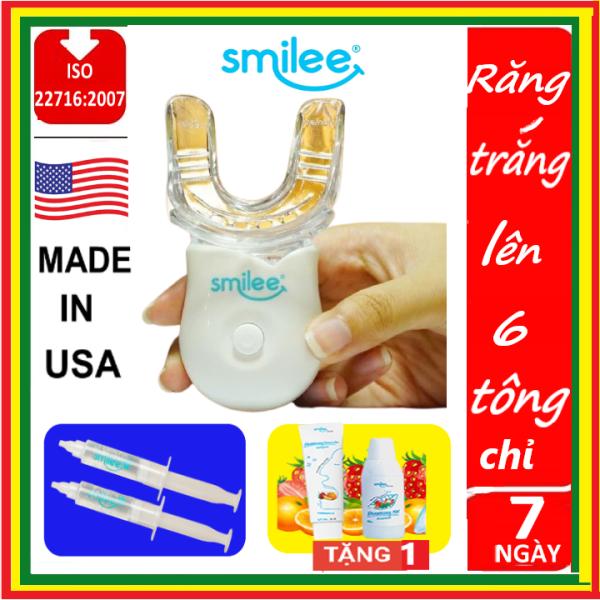 [TẶNG NƯỚC SÚC MIỆNG HOẶC KEM ĐÁNH RĂNG SMILE] Bộ Kit tẩy trắng răng tại nhà Smilee chuẩn USA  ISO 22716 - 2007 giá rẻ