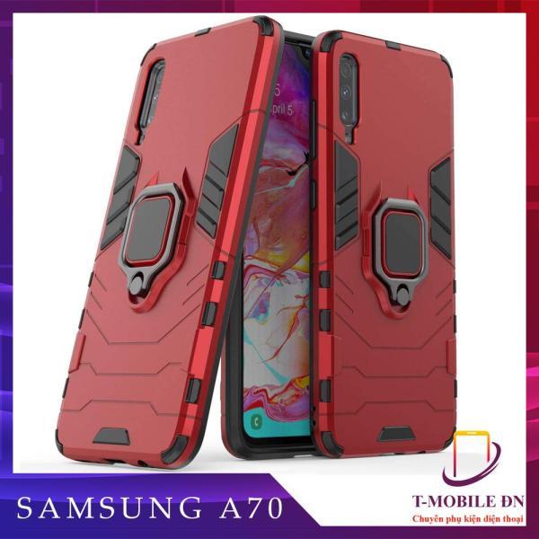 Ốp lưng Samsung A70 chống sốc iron man kèm nhẫn ring chống xem video tiện lợi