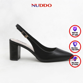 Giày slingback cao gót nữ NUDDO công sở gót vuông 7p thumbnail