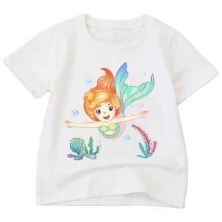 Áo Thun bé gái in hình vải polly cotton dày mịn BTM78 thumbnail