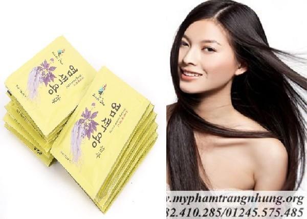 COMBO 10 Gói Dầu Gội Thảo Dược Đen Tóc Beauty Star Hàn Quốc (Hộp 10 Gói x 30ml) giá rẻ