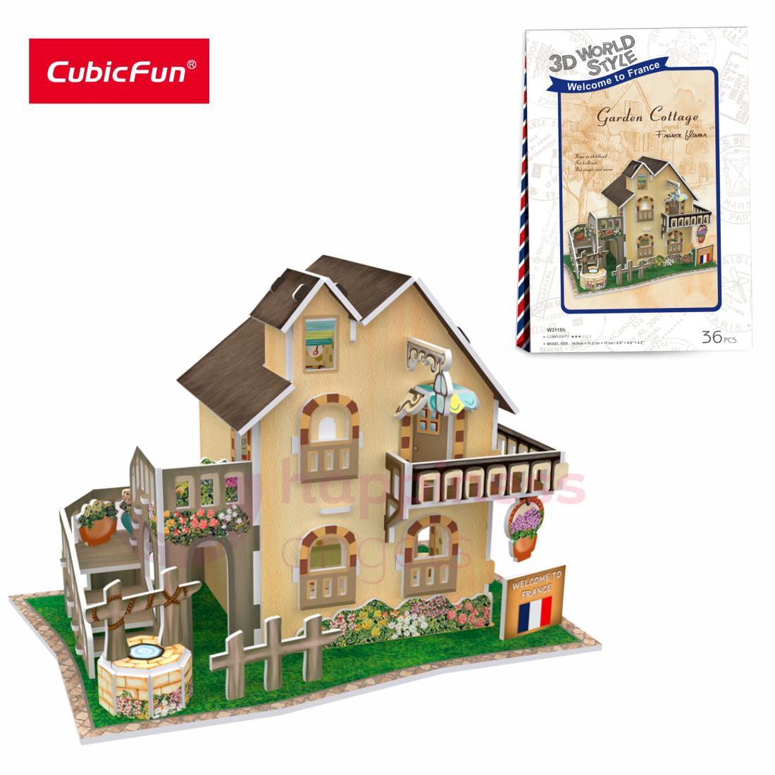 Giá Ưu Đãi Hôm Nay Để Có Ngay Mô Hình Lắp Ráp 3D Cubic Fun Nhà Vườn ở Quê (Pháp) - W3118h