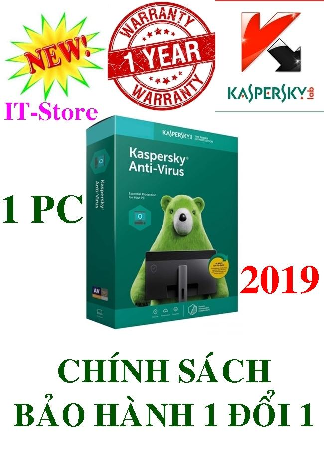 PHẦN MỀM DIỆT VIRUS KASPERSKY ANTI-VIRUS - 2019 - 1PC/Năm