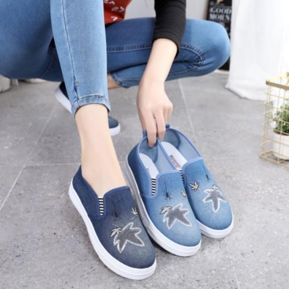 Giày lười vải jean đế cao su mềm cao 2p - mã JXD, sản phẩm đa dạng về mẫu mã, kích cỡ, màu sắc, chát lượng đảm bảo, cam kết hàng nhận được giống với mô tả giá rẻ