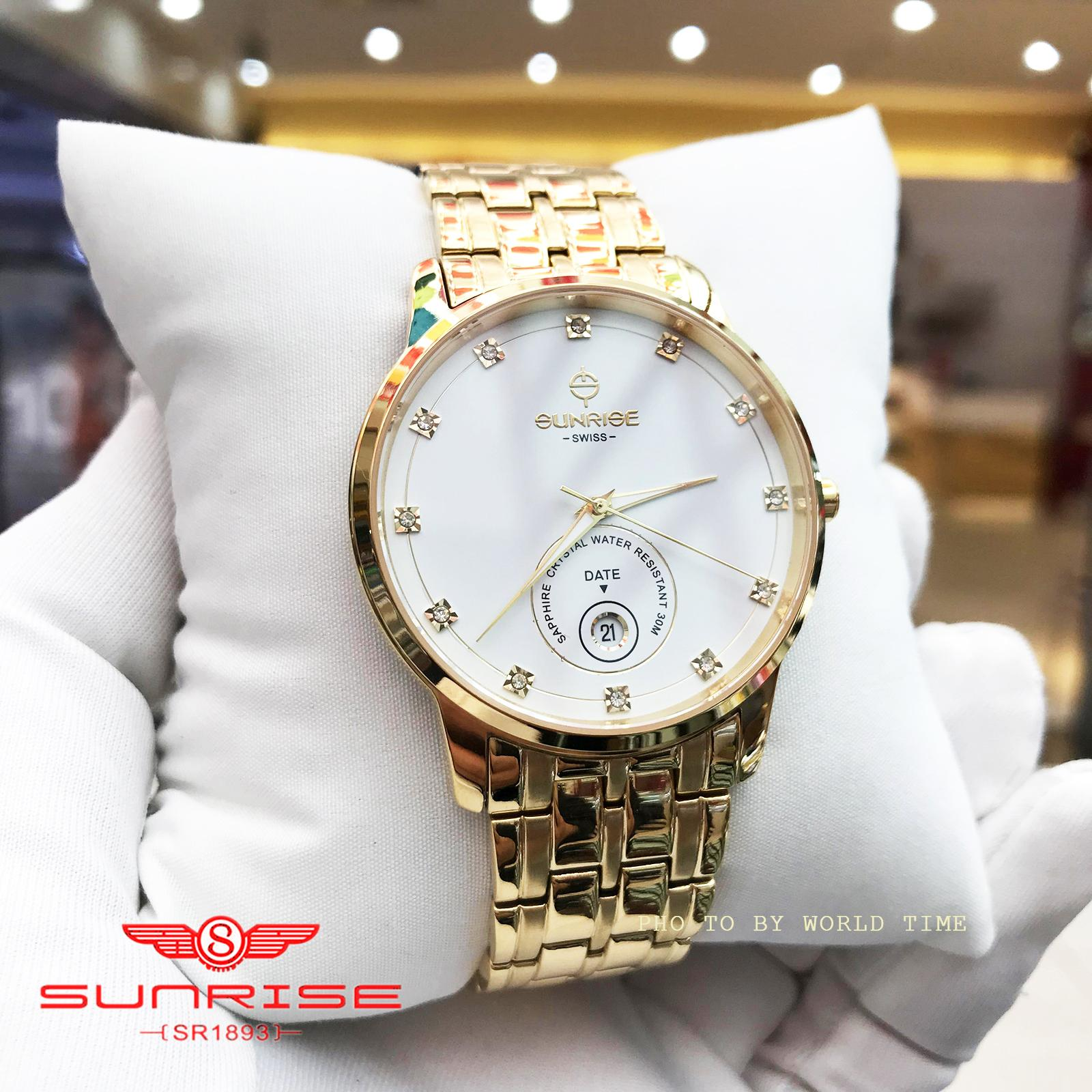 Nơi bán [CHỈ HÔM NAY] Đồng Hồ Nam Sunrise 1138SA - Hộp hãng + Thẻ BH hãng - Kính Sapphire [chống xước , chống nước] - Màu tuỳ chọn